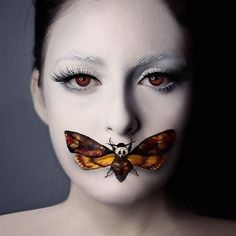 It's officially #Halloween! Here's a Silence of the Lambs inspo #makeup from @beautybypaisley! #halloweenmakeup