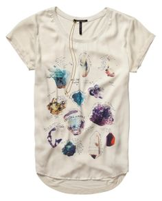Woven And Jersey Mix Tee With Crystal Inspired Artwork- Scotch & Soda, Amsterdam Couture