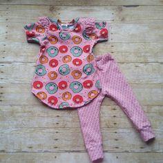 Knit Tunic Dress / Baby Leggings / Girls Pink by BrickhouseBaby