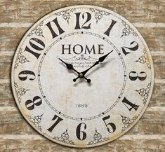 HOME 1889 Hanging Wall Clock Country Farmhouse Rustic Vintage Primitive #Unbranded #Farmhouse