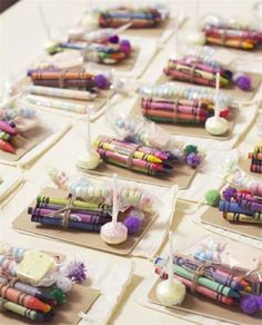 candy and coloring area for kids great idea