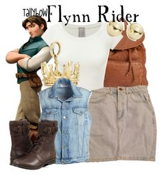 """Flynn Rider"" by tallybow ❤ liked on Polyvore featuring Disney, Billabong, American Apparel, Tiffany & Co., Frame Denim, UGG Australia and Lord & Taylor"
