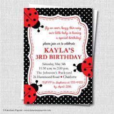 Cooking party invitation wording future bd party pinterest classic ladybug party invitation ladybug themed birthday digital design or printed invitations free stopboris Gallery