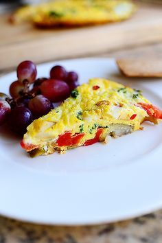 Frittata! One of my favorite ways to use up eggs, veggies and cheese.