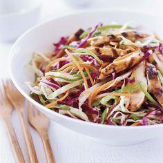 Grilled Chinese Chicken Salad | Main-course salad recipes, from eggplant-lentil salad to grilled skirt steak with fregola-orange salad.