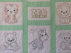 Excited to share this item from my #etsy shop: Hand Embroidered Baby Quilt, Zoo Animals, Baby Shower Gift, Nursery Bedding, Baby Blanket, Baby Christmas, Nursery Wall Hanging Baby Quilts To Make, Handmade Baby Quilts, Baby Girl Quilts, Boy Quilts, Girls Quilts, Baby Girl Blankets, Embroidered Baby Blankets, Embroidered Quilts, Pet Gifts