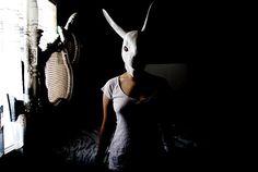 Love the lighting - bunny mask