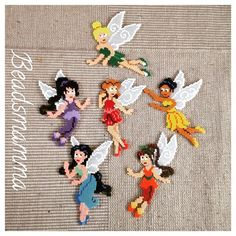 Tinker Bell and Fairies perler beads by beadsmamma