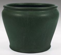Rookwood jardiniere, shouldered form covered in a green matte glaze, signed and dated x