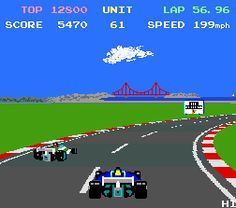 Pole Position II (Arcade) - My first great racing game played in the arcades at the seaside. 20p a go and worth every penny! Made me want an Atari 7600!