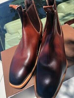 RM Williams Chinchilla US 11 Bordeaux color made in Australia Maisie Williams, Rm Williams, Chinchilla, Bordeaux, Loafer Shoes, Loafers, Leather Moccasins, Men S Shoes, Shoe Collection