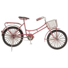 Pink Metal Bike with Basket | Hobby Lobby | 1133602