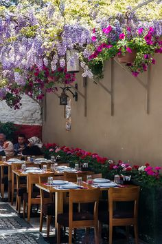 "Wisteria, Beylerbeyi Restaurant, Istanbul, Turkey. Checkout ""City is Yours"" http://www.cityisyours.com/explore to discover amazing bucket lists created by local experts."