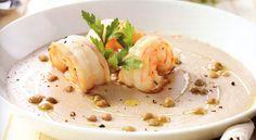 Vellutata di fagioli con gamberi e lenticchie   Food Loft - Il sito web…
