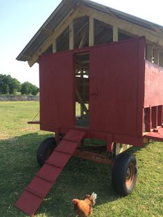 Mobile Chicken Coop aka chicken tractor built by our students at Northeast Texas Community College in Mount Pleasant TX