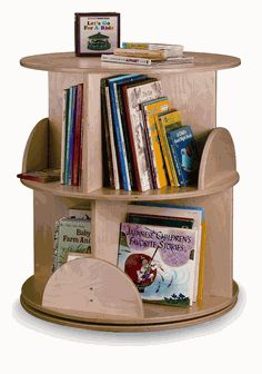 Two Level Carousel Book Stand, WB0502 by Whitney Brothers by Whitney Brothers | BizChair.com