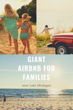 Giant airbnb in Michigan for Family Reunions One of the biggest airbnbs in the Midwest for families! Michigan Vacations, Best Family Vacations, Lake Michigan, Kids Beach Activities, Family Activities, Kid Friendly Restaurants, Beach Kids, Beach Town, Family Reunions