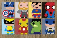 "AvengersSuperhero 8x10"" Printables - Iron Man Hulk Batman Spiderman Wolverine Thor Captain America Superman Print at home Instant Download"