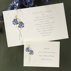 Embossed Lavender Nature Wedding Invitation Invitations Create Own Listing Sale | eBay