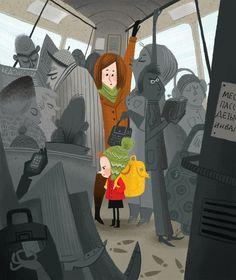 By bus by Olga Demidova