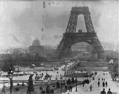 Eiffel Tower under construction in July 1888.