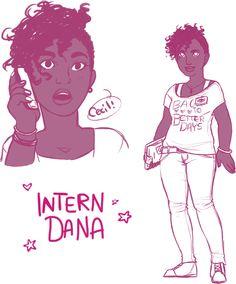 WTNV Intern Dana (Sketches) by ameliestuck on deviantART