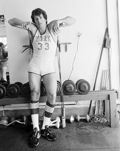 Sylvester Stallone training for Rocky II, 1978