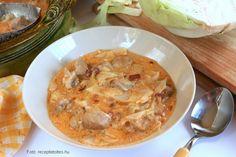 Káposztás pulyka – Receptletöltés Cheeseburger Chowder, Curry, Soup, Ethnic Recipes, Curries, Soups