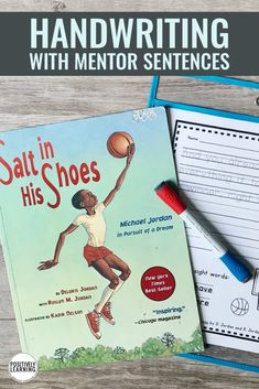 Handwriting pages with 220 mentor sentences from favorite children's read aloud books. Gain valuable practice with these writing models. #handwriting #mentorsentences