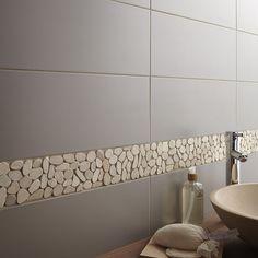 Carrelage Salle de bain mural Loft en faïence, gris gris n°3, 20 x 50.2 cm