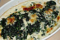 Hähnchenbrustfilet mit Spinat und Gorgonzola überbacken