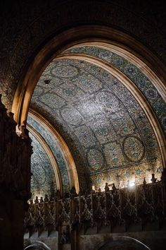 Ceiling in the Woolworth Building NYC circa 1913. Brings to mind the Mausoleum of Galla Placida in Ravenna