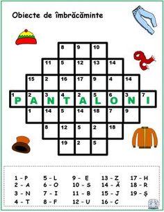 Cuvinte codificate. Jocuri de înlocuire a numerelor cu litere Preschool Writing, Kindergarten Activities, Activities For Kids, Crafts For Kids, School Frame, Teacher Supplies, Math Numbers, Activity Sheets, Math For Kids