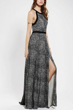 Silence & Noise Fishtail Maxi Dress