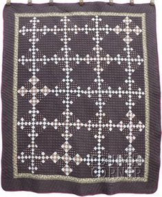 Fourth Corner Fine Quilt Gallery Amish Quilts, Old Quilts, Antique Quilts, Vintage Quilts, Gray Quilts, Two Color Quilts, Rocky Creek, Black And White Quilts, Nine Patch Quilt