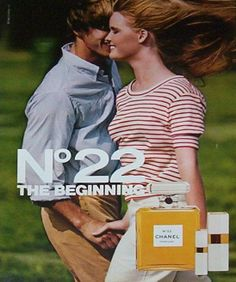 "1982 Chanel No. 22 ad permanently burned into my brain from seeing it every month in ""Seventeen."""