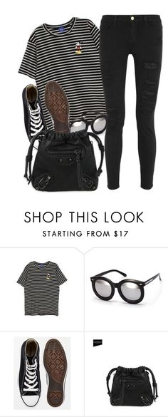 """""""YesStyle"""" by monmondefou ❤ liked on Polyvore featuring H&M, Converse, CatWorld and Frame Denim"""