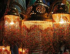 Lamps at the Great Bazaar in Istanbul