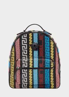 VERSACE City Lights Crystal Backpack. #versace #bags #leather #crystal #polyester #backpacks #lining #