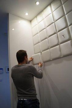 KERMA műbőr falpanelekből kialakított előszobafal , Budapest, 2016 - Kerma Design