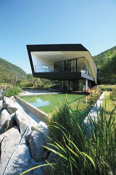 The 'Villa Topoject' located in Gyeonggido, Korea - Designed by Architecture of Novel Differentiation