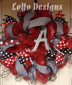 Alabama Wreath  Roll Tide  Bama Wreath  Deco Mesh by LoYoDesigns, $120.00