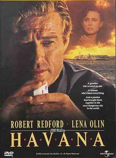 Havana, Great movie starring Robert Redford and Lena Olin. One of my favs with Robert Redford. 90s Movies, Great Movies, Movies To Watch, I Movie, Movie Stars, Drama Movies, Lena Olin, Daniel Davis, Havana