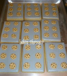 Chocolate Chip Cookie sheet decorated cookies
