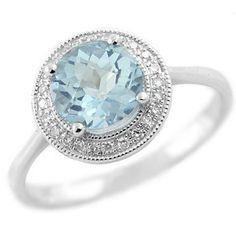 Round Sky Blue Topaz & Diamond Fashion Cocktail by DiamondCANDYcom, $335.00