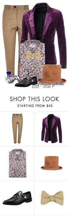 """""""Willy Wonka and the Chocolate Factory"""" by thehelsinghatter ❤ liked on Polyvore featuring River Island, ETON and Robinson & Dapper"""