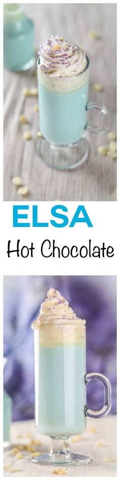 This delicious white hot chocolate is the perfect partner to Frozen for the kids (or adults). This white hot chocolate is even colored to match the film!