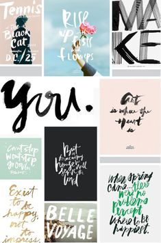 INSPIRATION   RECENT HANDLETTERING PICKS