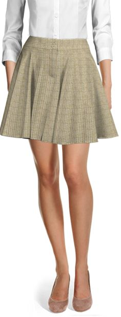 Customized by you, and made to fit your unique measurements Linen Skirt, Casual Skirts, Suits For Women, Custom Made, Work Wear, Skater Skirt, Mini Skirts, Beige, Female