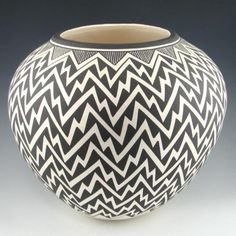 Kathy Victorino - Black and White Acoma Pot